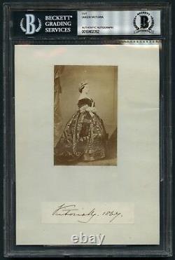 Queen Victoria (d. 1901) signed autograph auto 5x7 cut Queen United Kingdom BAS