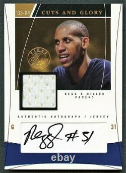 Reggie Miller 2004 Flair Final Edition Cuts And Glory Jersey Auto Autograph /100