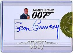 Rittenhouse James Bond 007 Sean Connery Cut Autograph Auto Signed QTY AVAIL