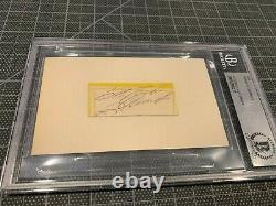Roberto Clemente Pittsburgh Pirates Signed Cut Autograph Beckett Slabbed 3