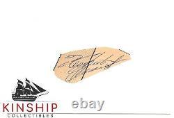 Roberto Clemente signed Cut Adhered 3x5 Index JSA LOA Pirates HOF Rare Auto Z492