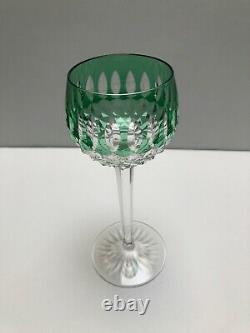 Saint Louis Magnificent Cut Crystal Colored White Wine Glasses #260