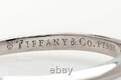 Signed $6000 Tiffany & Co VS1 G Princess Cut Diamond. 50ct Platinum Wedding Ring
