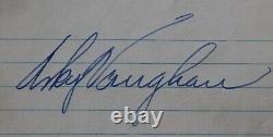 Signed Arky Vaughan Cut Jsa Loa Auto Baseball Brooklyn Dodgers Autograph Pirates