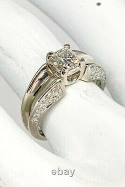 Signed JOSE HESS $10,000 1.82ct VS H Princess Cut Diamond Platinum Wedding Ring