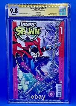 Spawn #1 CGC SS 9.8 Directors Cut 25th Anniv Homage Signed by T, McFarlane