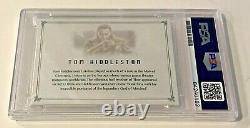 Tom Hiddleston Loki Avengers Signed Auto Custom Cut #'d 1/1 Trading Card PSA/DNA
