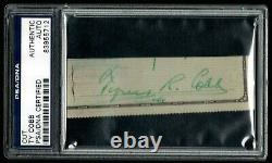 Ty Cobb Signed Cut Autograph From Check Psa/dna Certified Authentic Hof