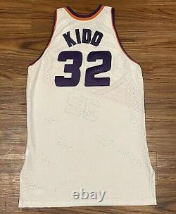 VTG 1999-2000 Phoenix Suns Jason Kidd Autographed Pro Cut Champion Jersey Sz 46