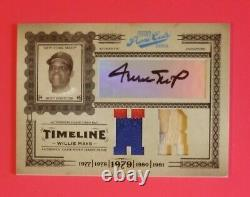 Willie Mays 2005 Playoff Prime Cuts Auto Ny Mets Patch Jersey Bat Card Sp 14/25