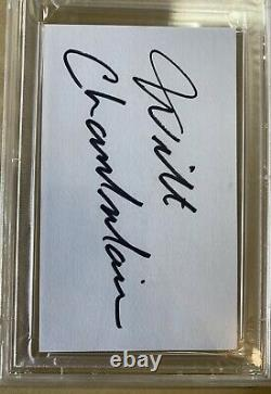 Wilt Chamberlain Autographed 3x5 Index Card Cut PSA/DNA Lakers Beautiful Auto