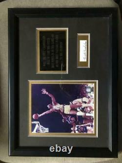 Wilt Chamberlain Framed Cut Photo Signed Autographed Autograph Auto PSA/DNA COA