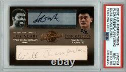 Wilt Chamberlain Yao Ming 2002 Ud Inspirations Cut Rookie 2/2 Psa 7.5/8.5 Auto