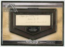 Winston Churchill 2020 Topps Transcendent Oversized Cut Signature Autograph 1/1